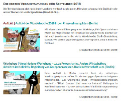 Listenansicht Programm Wandelwoche 2018